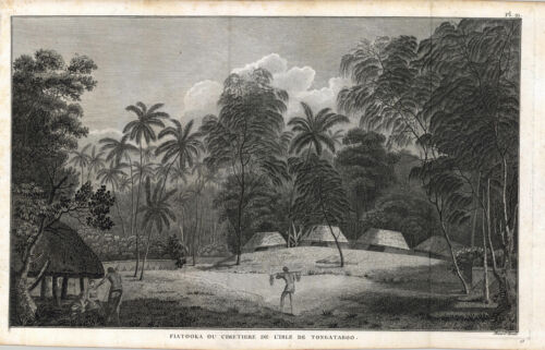 c1785 View in TONGA- French ed. of Cook's Voyages