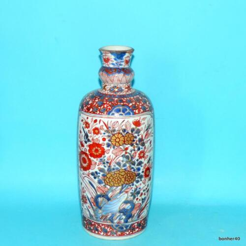 RARE CHINESE IEXPORT IMARI PORCELAIN 18THC ANTIQUE EXPORT KANGXI BOTTLE VASE