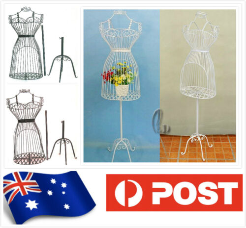 Female Metal Wire Iron Mannequin Clothes Boutique Display Adjustable Height