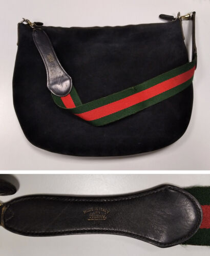 Borsa a tracolla nera in pelle Gucci vintage leather black shoulder bag