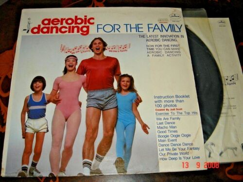 Aerobic Dancing For The Family, 12-inch vinyl LP 33 rpm, made in USA