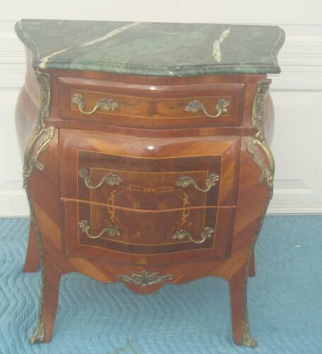 FRENCH LOUIS XV STYLE MARBLE TOP CHEST OF DRAWERS