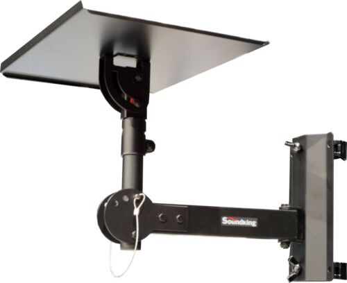 Adjustable Tray + tilt 35mm pole socket + wall/truss bracket with clamps