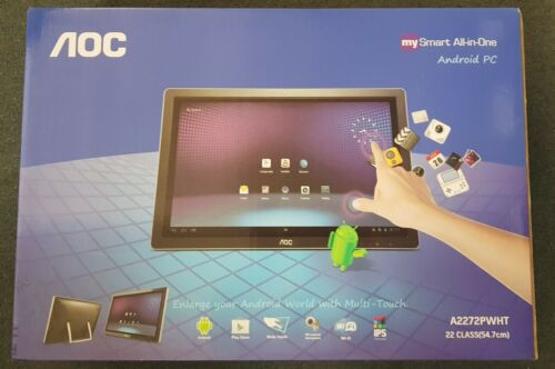 AOC A2272PWHT 21.5in IPS Touchscreen All in One Android PC MONITOR HDMI