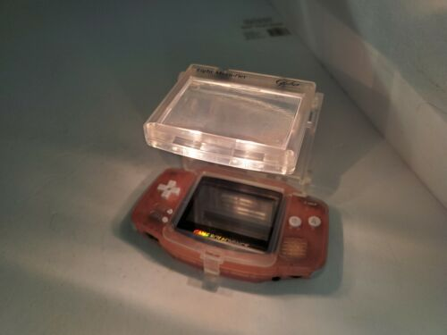 NEW Transparent Clear LIGHT & MAGNIFIER for Nintendo GameBoy Advance Console X16