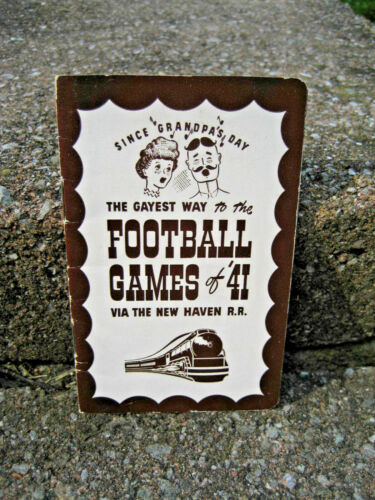 1941 New Haven Railroad Football Line Up....Yale, Army, Navy College Football