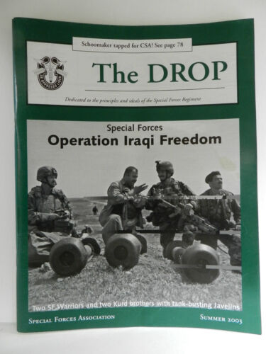 GREEN BERET, THE DROP MAGAZINE, SUMMER 2003 ISSUE, SPECIAL FORCES ASSOCIATIONPrice Guides & Publications - 171192
