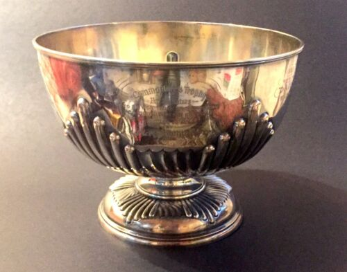 AMERICAN YACHT CLUB STERLING SILVER COMMODORES TROPHY 1895-1901 BY JAMES DIXON