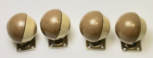 (4) Two Tone Made in England Furniture / Chair Casters / Hard Plastic Parts