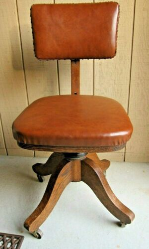 ANTIQUE B.L. MARBLE CHAIR Co. SWIVEL OFFICE CHAIR.  OHIO ,USA