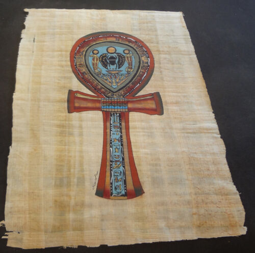 AUTHENTIC EGYPTIAN PAINTING ON PAPYRUS: d