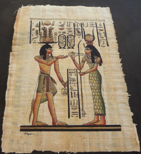 AUTHENTIC EGYPTIAN PAINTING ON PAPYRUS: f