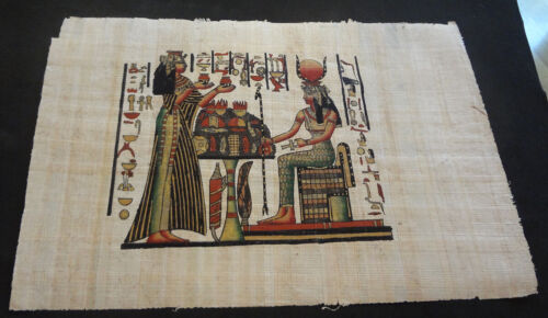 AUTHENTIC EGYPTIAN PAINTING ON PAPYRUS: i