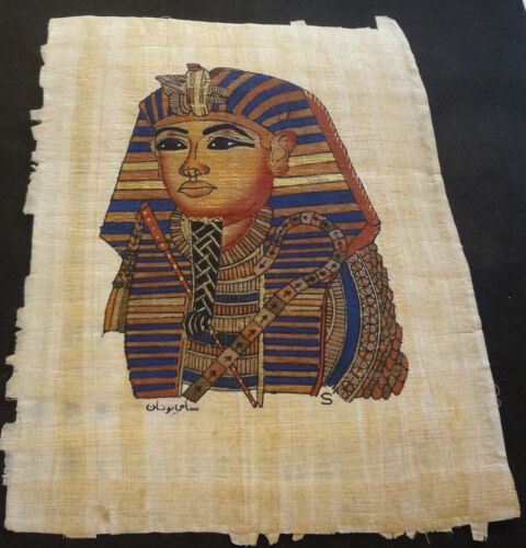 AUTHENTIC EGYPTIAN PAINTING ON PAPYRUS: l