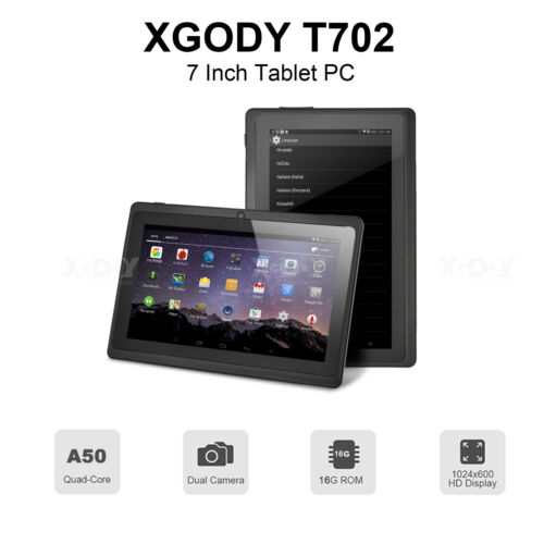 """XGODY Android 8.1 Tablet PC 7"""" Inch 16GB ROM  Bluetooth 2xCamera Quad Core WIFI"""