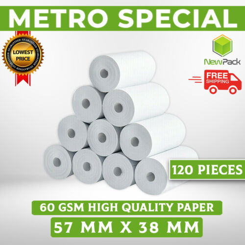 EFTPOS Rolls 57x38mm Premium Thermal Paper Cash Register Receipt Rolls 120X