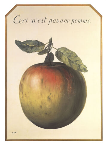 Ceci n'est pas une pomme by Rene Magritte Art Print Not an Apple Poster 20x27.5