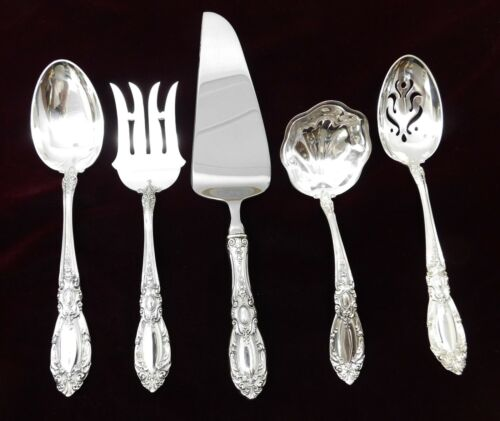 (5) Towle King Richard Sterling Silver Serving Pieces  - J1549