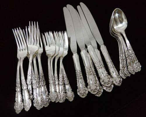 (6) Reed & Barton French Renaissance Sterling 4pc Place Settings - J1284