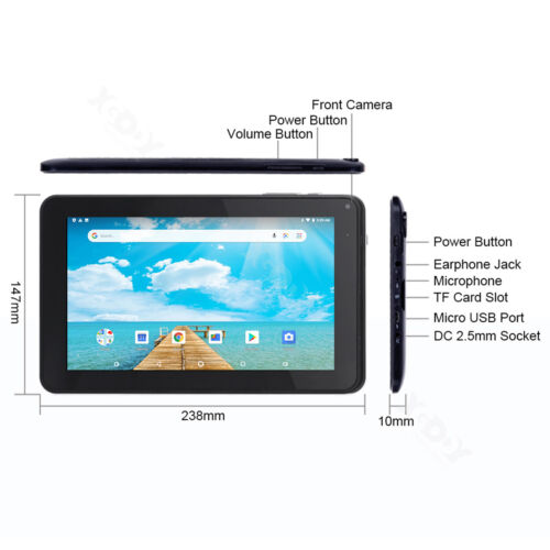 """Xgody 9"""" INCH Android 6.0 Quad Core 1+16GB Tablet PC WiFi Dual Camera Bluetooth"""