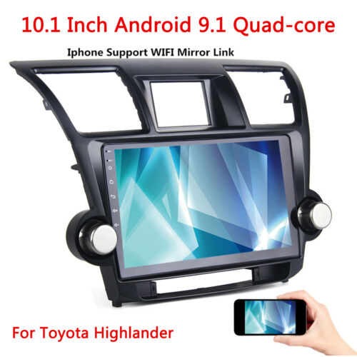 10.1' Android 9.1 Car Stereo Radio Headunit GPS WIFI 32G For Toyota Kluger 08-13