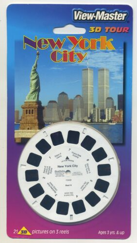 New York Ciudad And World Comercio Centro View-Master 3-Reel Paquete Sealed Mint