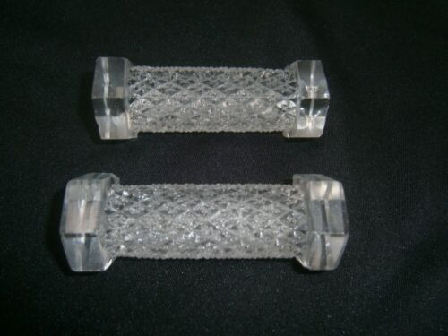 PAIR OF ANTIQUE circ. 1800's PRESSED GLASS KNIFE RESTS.