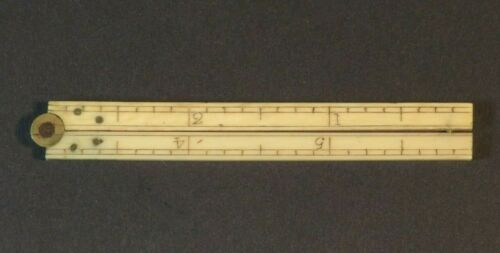 NICE 18TH CENTURY SAILOR MADE FOLDING RULER