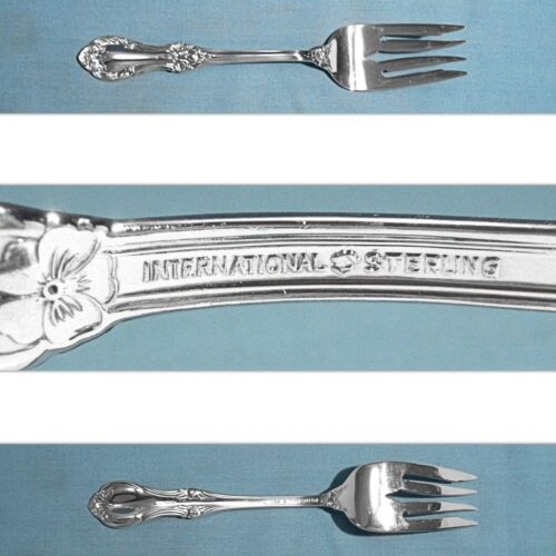 "INTERNATIONAL STERLING 6 1/8"" SALAD FORK(S) ~ WILD ROSE - NEW ~ NO MONO"