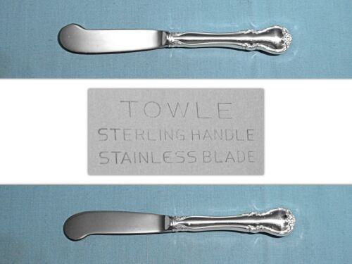 """TOWLE STERLING 6"""" HOLLOW HANDLE BUTTER PADDLE(S)  ~ FRENCH PROVINCIAL ~ NO MONO"""