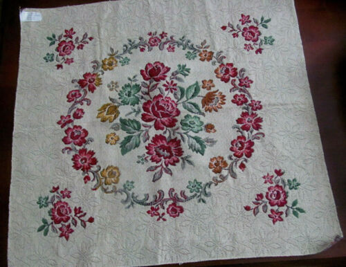 Old Stock~Floral Wreath Cotton Tapestry Panel~Pillow Cushion Cover~Belgium 23x24