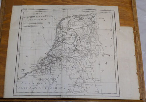 1787 DETAILED TOPOGRAPHICAL MAP OF THE NETHERLANDS, Plus Area-Related Text
