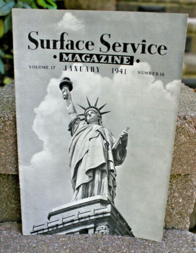"""1941 Chicago Surface Line """"Surface Service Magazine""""....Statue of Liberty Cover"""