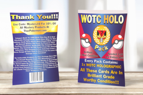 Vintage WOTC HOLO | Sealed Pack | WOTC Pokémon | WOTC Holographic <br/> #1 Top Selling In Trading Cards [Trusted Seller]