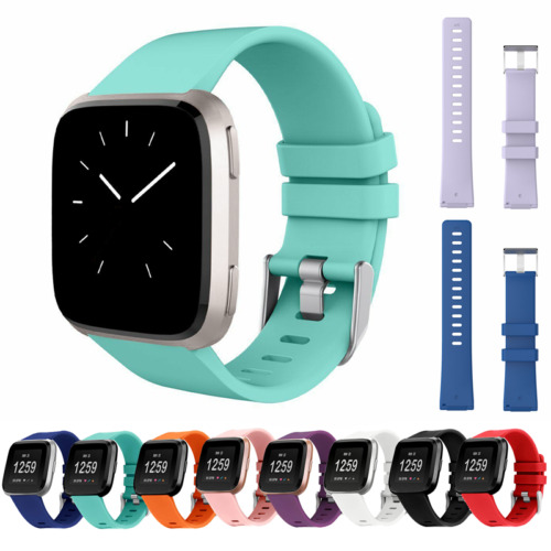 For Fitbit Versa 2/ 1 / Lite Strap Replacement Silicone Buckle Sport Watch Band