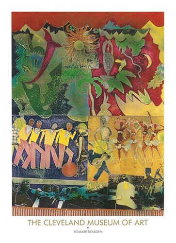 Wrapping it Up at the Lafayette, 1974 by Romare Bearden Art Print Poster 26x36