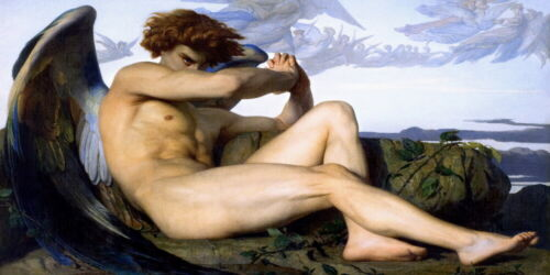 """The fallen Angel by Alexander cabanel Oil Painting HD Printed on canvas 15X30"""""""