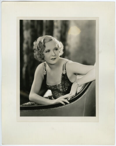 Tragic Troubled Stage & Screen Star Marilyn Miller Large Deco Glamour Photograph
