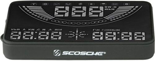 """SCOSCHE 5.8"""" HEADS-UP DISPLAY HUD OBD GPS COMBO MULTI-COLOUR LED NEW"""