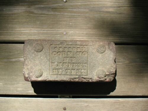 Antique 9# 1800's Market Street Paving Stone - Gregory Corning NY Best By Test