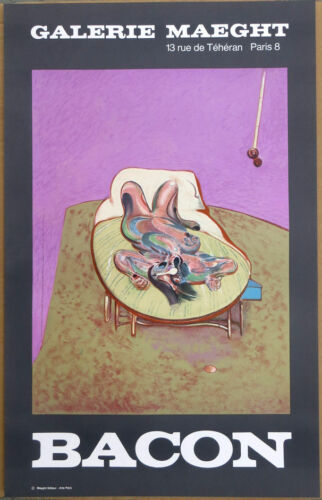 Francis Bacon Personnage Couche 1966 Lithograph Poster 28 x 17-1/2