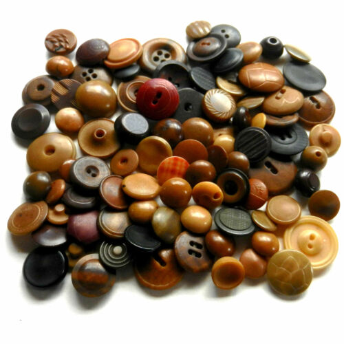 Nice Collection of Vintage Vegetable Ivory Vintage Buttons Dyed Carved Embossed
