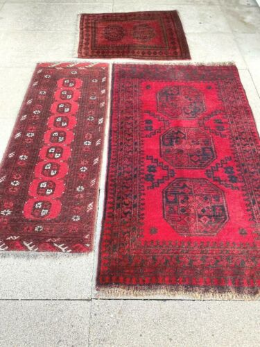 antico-swiss  3 Beautiful Antique Bokhara rugs  2`9 x 5`and 1`8 x 4`7 and   ft