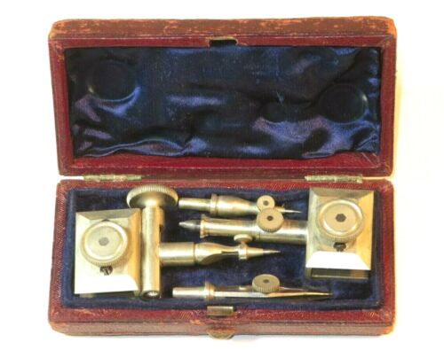 NICE 19TH CENTURY CASED DRAWING SET PARTS