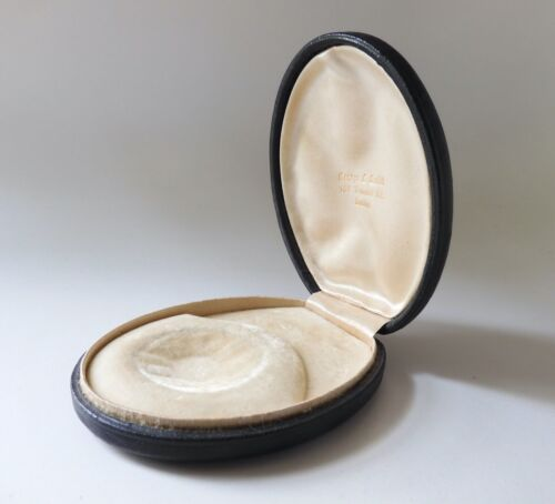 Antique Victorian Leather Covered Jewelry Presentation Box George Smith BostonJewelry Boxes - 3820