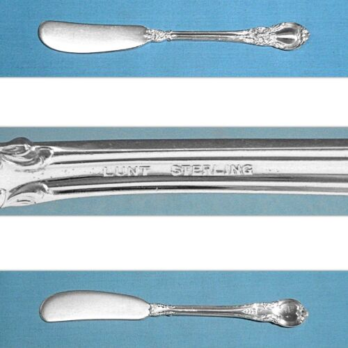 LUNT STERLING FLAT HANDLE BUTTER SPREADER(S) ~ AMERICAN VICTORIAN ~ NO MONO