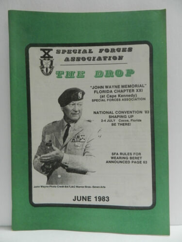 """""""GREEN BERET"""" THE DROP MAGAZINE, JUNE 1983 ISSUE, SPECIAL FORCES ASSOCIATIONPrice Guides & Publications - 171192"""