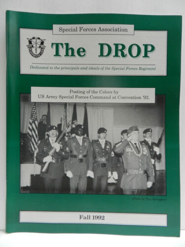 """""""GREEN BERET"""" THE DROP MAGAZINE, FALL 1992 ISSUE, SPECIAL FORCES ASSOCIATIONPrice Guides & Publications - 171192"""