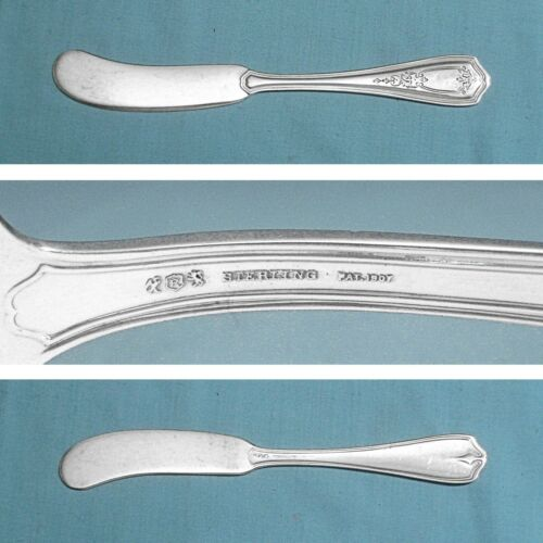 REED & BARTON STERLING FLAT BUTTER SPREADER(S) ~ HEPPLEWHITE - CHASED ~ NO MONO