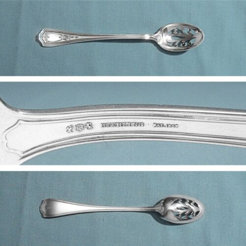 REED & BARTON STERLING PIERCED BOWL OLIVE SPOON ~ HEPPLEWHITE - CHASED ~ NO MONO